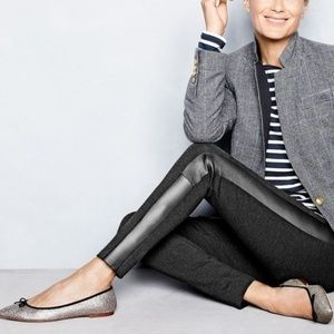 J. Crew Pixie Pant with Leather Tux Stripe
